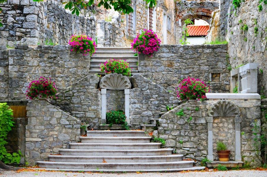 Stanjel medieval hill top village in Slovenia